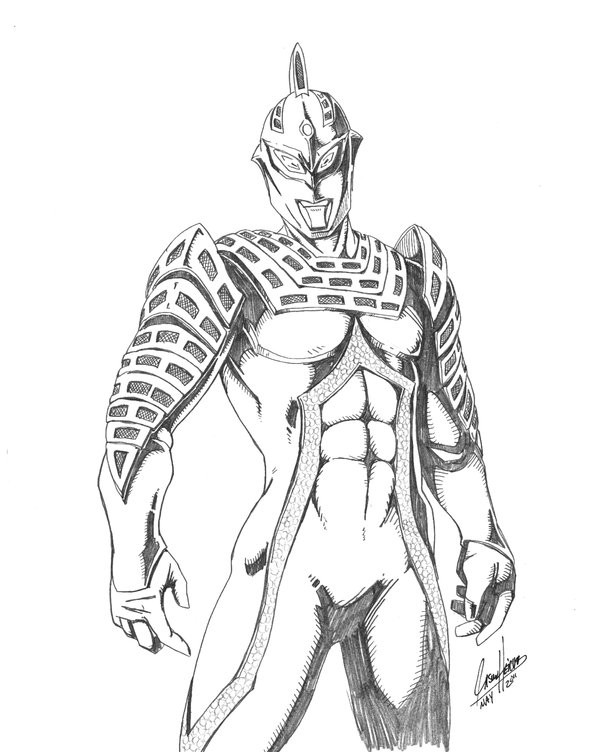 Dapatkan Gambar Mewarnai Ultraman Cosmos
