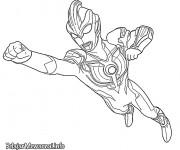 Coloriage Ultraman en volant