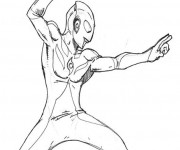 Coloriage Ultraman Extraterrestre
