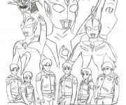 Coloriage Ultraman facile