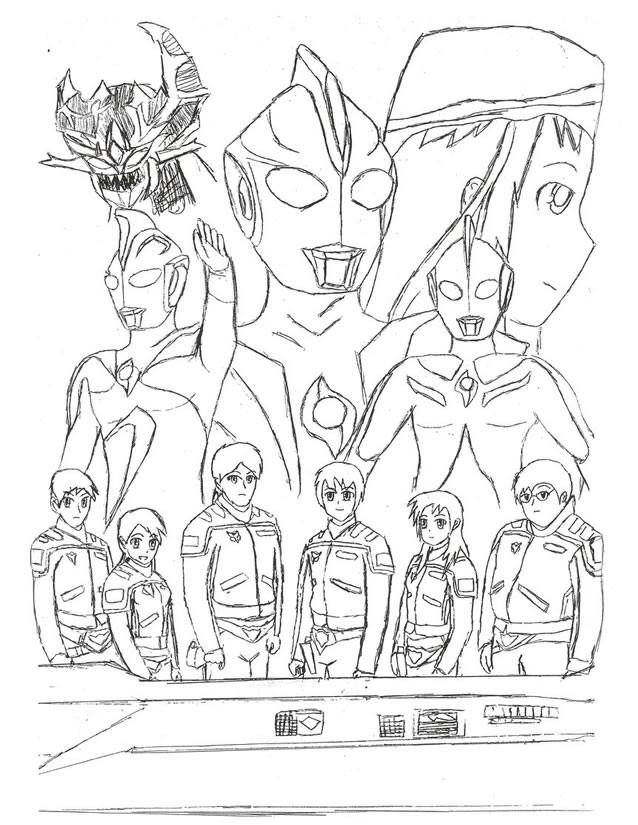 Coloriage et dessins gratuits Ultraman facile à imprimer