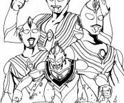 Coloriage Ultraman Légendaire