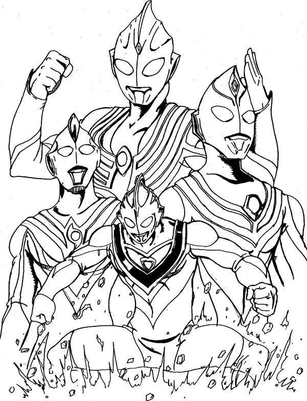 Coloriage et dessins gratuits Ultraman Légendaire à imprimer