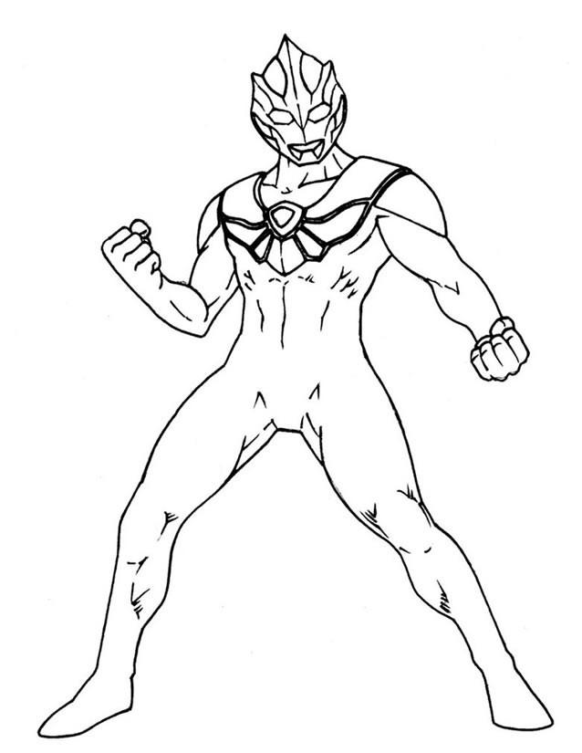 Coloriage et dessins gratuits Ultraman Personnage à imprimer