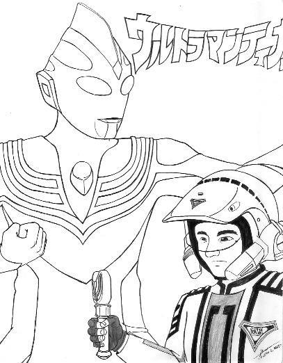 Coloriage et dessins gratuits Ultraman Série Japonaise à imprimer