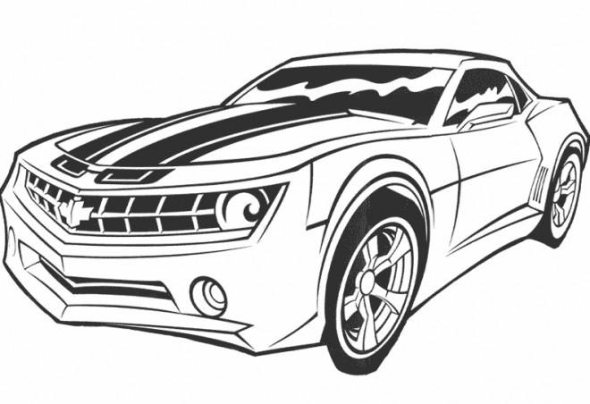 Coloriage et dessins gratuits Voiture de Film Transformers à imprimer