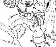 Coloriage Héro avec de nombreux pouvoirs