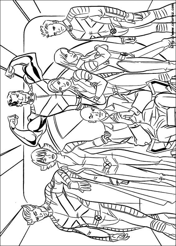 Coloriage et dessins gratuits Image de X-Men Super Héros à imprimer