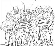 Coloriage Les Héros du Film X-Men