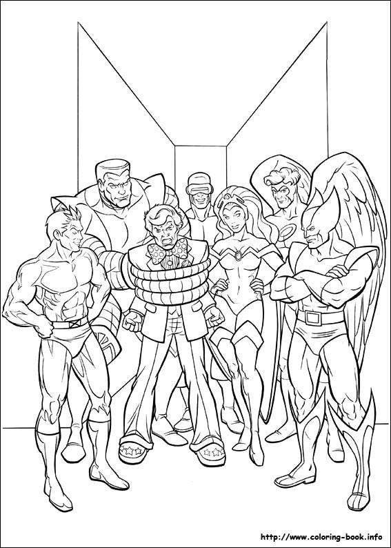 Coloriage et dessins gratuits Les Héros du Film X-Men à imprimer