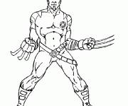 Coloriage Portrait de Wolverine facile