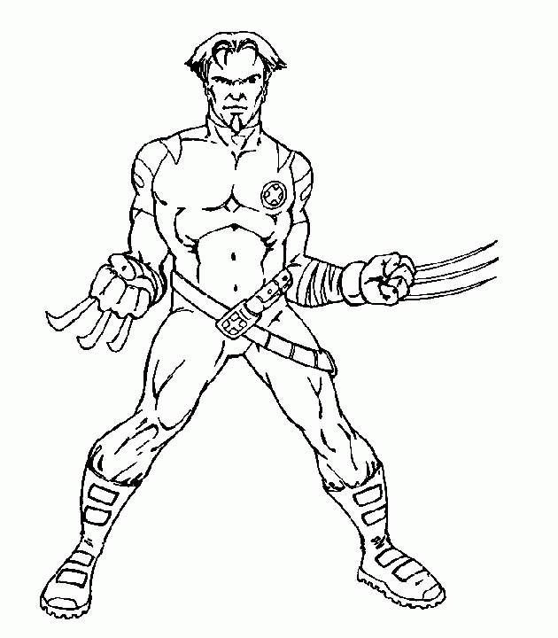 Coloriage et dessins gratuits Portrait de Wolverine facile à imprimer