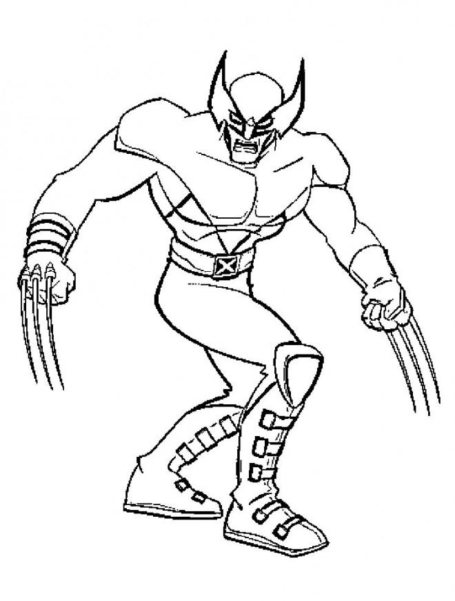 Coloriage et dessins gratuits Portrait de X-Men Héro à imprimer