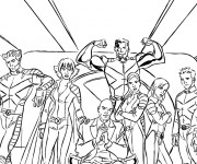 Coloriage Super Héros Film X Men
