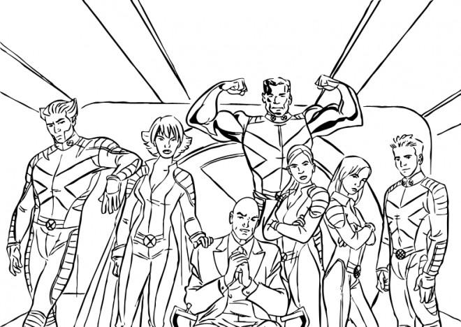 Coloriage et dessins gratuits Super Héros Film X Men à imprimer