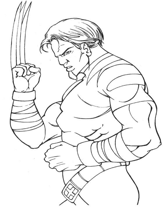 Coloriage wolverine de x men dessin gratuit imprimer - Wolverine dessin ...