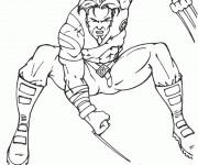 Coloriage Wolverine facile