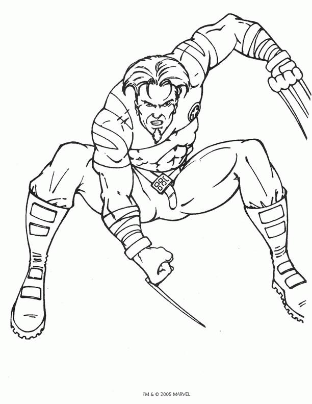 Coloriage wolverine facile dessin gratuit imprimer - Dessin de hulk a imprimer ...