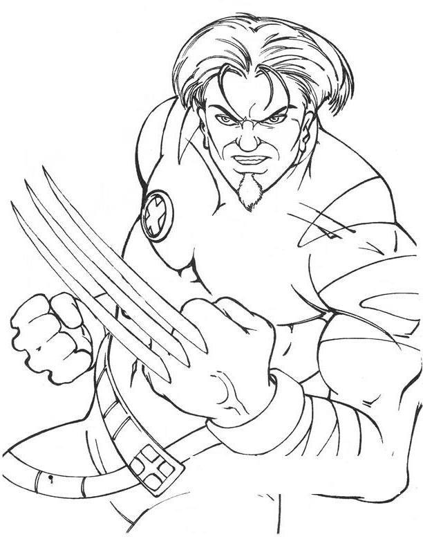 Coloriage et dessins gratuits Wolverine Super Héro au crayon à imprimer