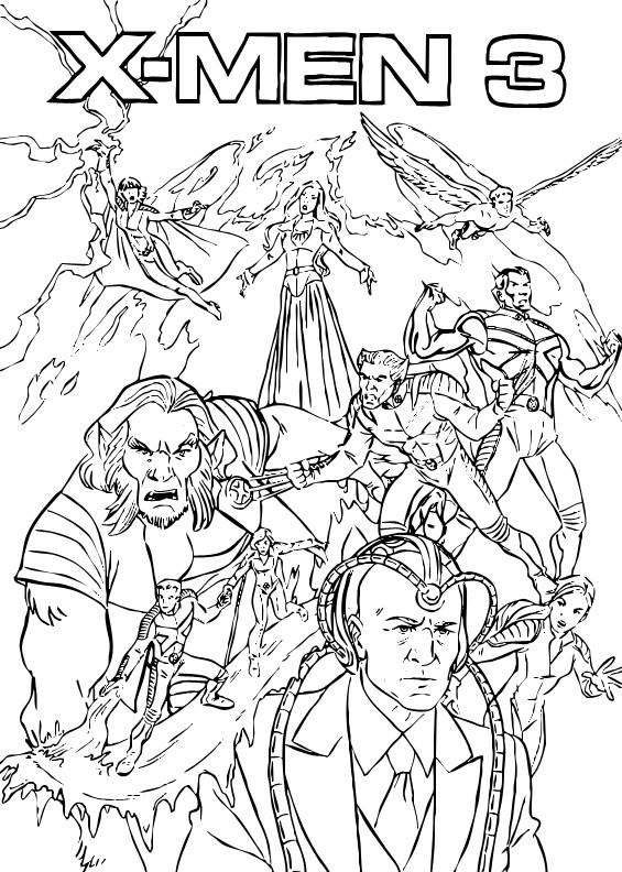 Coloriage et dessins gratuits X-Men 3 Affiche à imprimer