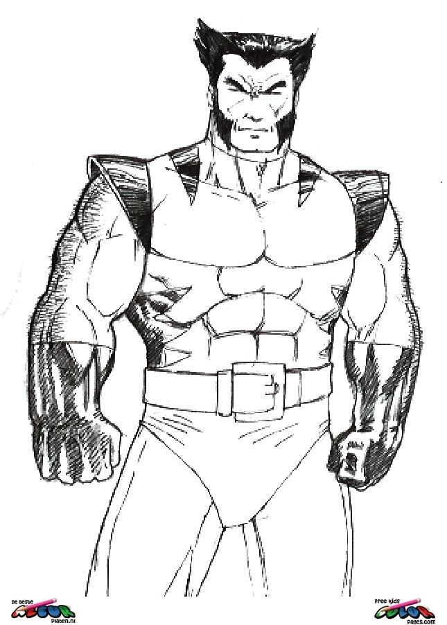 Coloriage et dessins gratuits X-Men Dents-de-sabre à imprimer