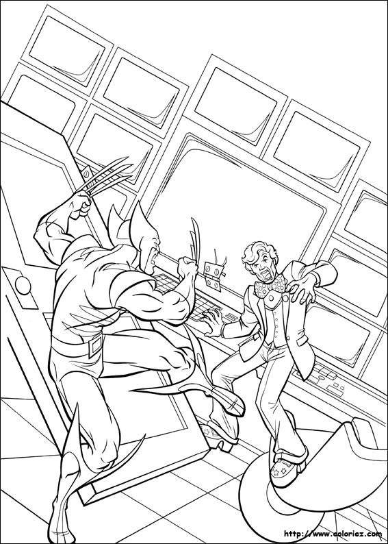 Coloriage et dessins gratuits X-Men dessin animé à imprimer