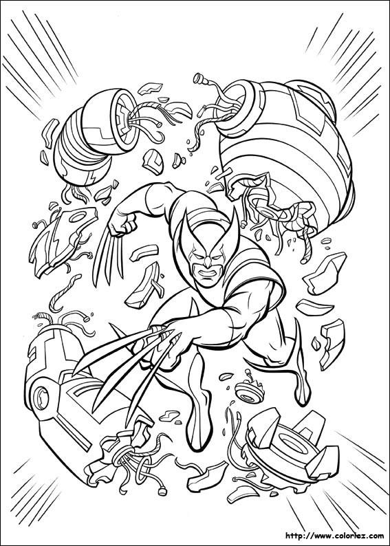 Coloriage et dessins gratuits X-Men Disney à imprimer