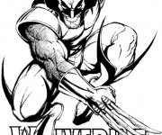 Coloriage et dessins gratuit X-Men en noir et blanc à imprimer