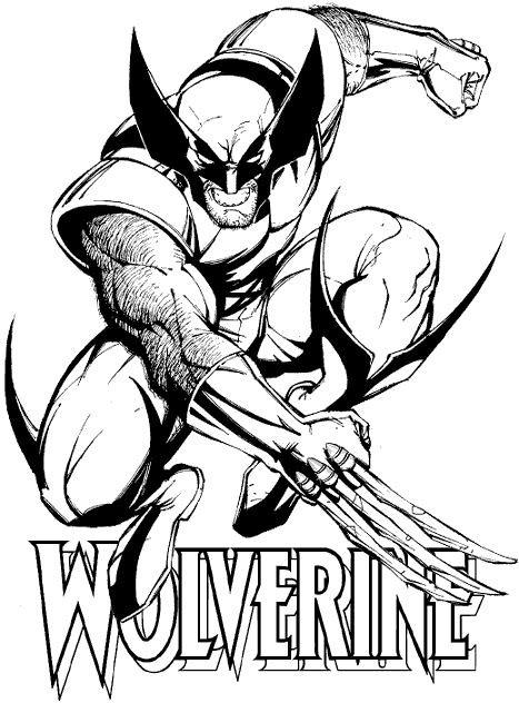 Coloriage et dessins gratuits X-Men en noir et blanc à imprimer