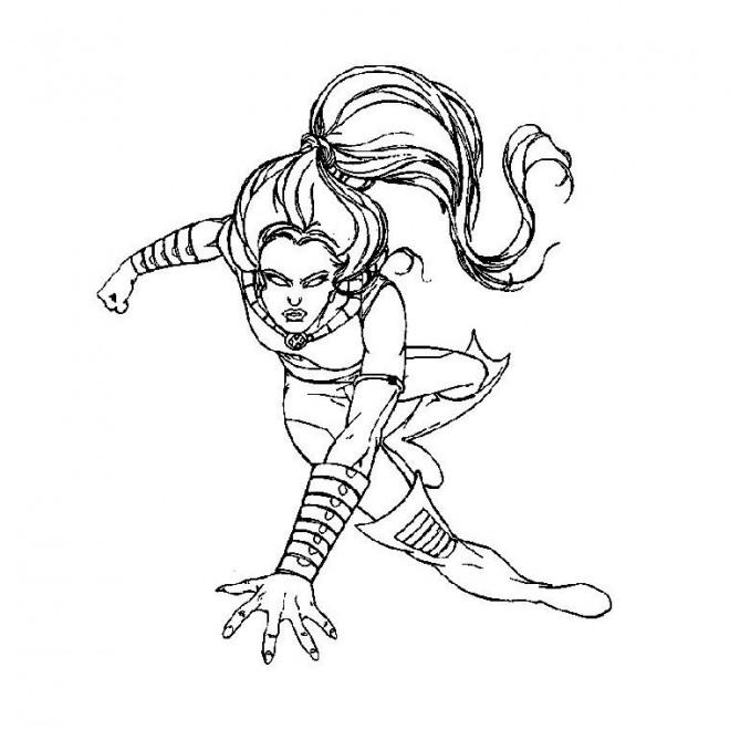 Coloriage et dessins gratuits X-Men Héro facile à imprimer
