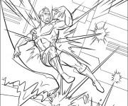 Coloriage X-Men Héro sur ordinateur