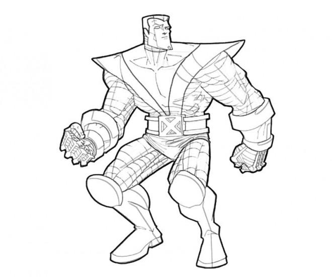 Coloriage et dessins gratuits X-Men Héro vectoriel à imprimer