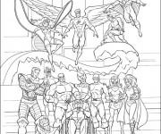 Coloriage et dessins gratuit X-Men Héros Légendaire à imprimer