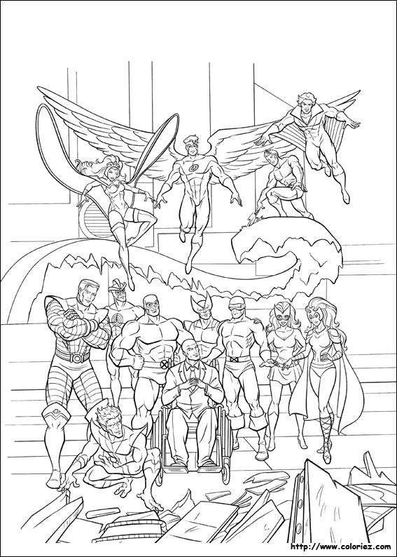 Coloriage et dessins gratuits X-Men Héros Légendaire à imprimer