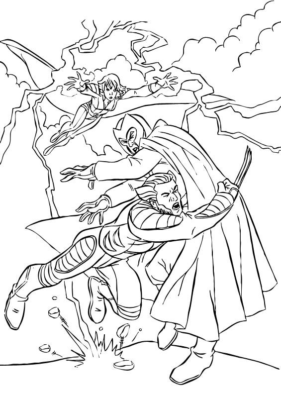 Coloriage et dessins gratuits X-Men Héros protègent le monde à imprimer