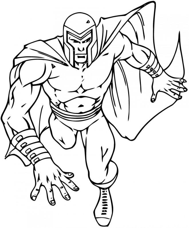 Coloriage et dessins gratuits X-Men magique à imprimer