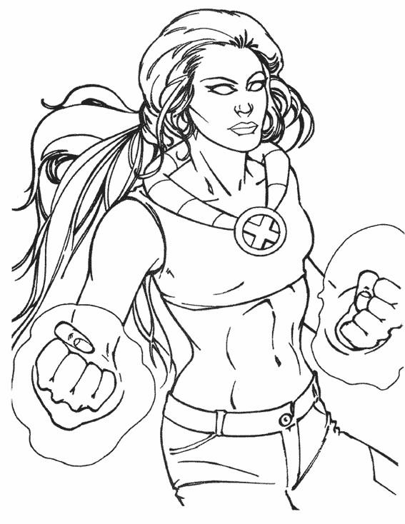 Coloriage et dessins gratuits X-Men Malicia à imprimer