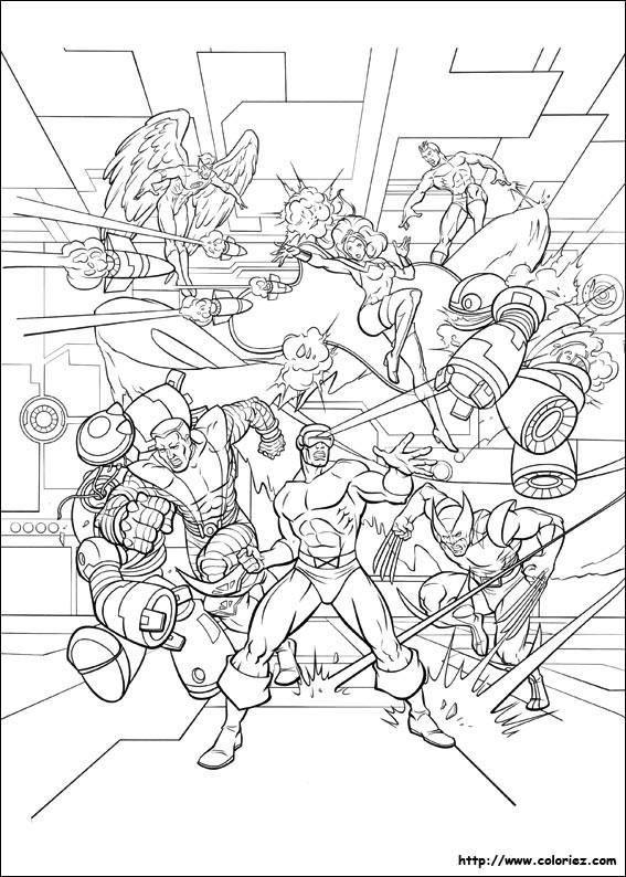 Coloriage et dessins gratuits X-Men maternelle à imprimer