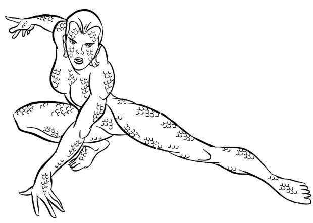 Coloriage et dessins gratuits X-Men mutant à imprimer