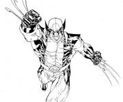 Coloriage X-Men Mystique stylisé