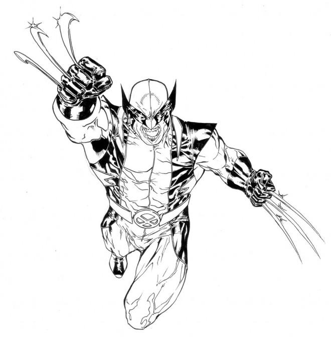 Coloriage et dessins gratuits X-Men Mystique stylisé à imprimer