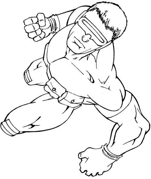 Coloriage et dessins gratuits X-Men Scoot facile à imprimer