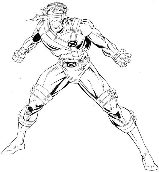 Coloriage et dessins gratuits X-Men Scoot Summer à imprimer