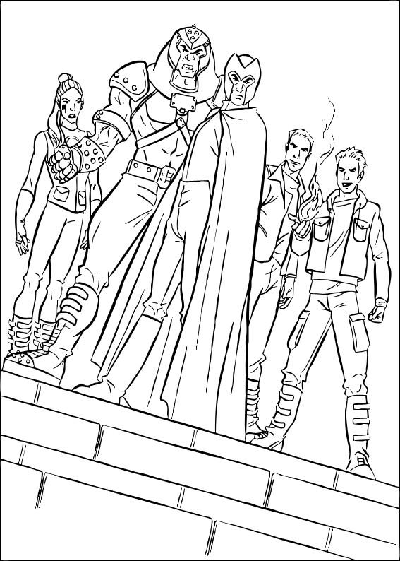 Coloriage et dessins gratuits X-Men stylisé à imprimer