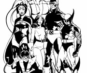 Coloriage X-Men Super Héros préférables