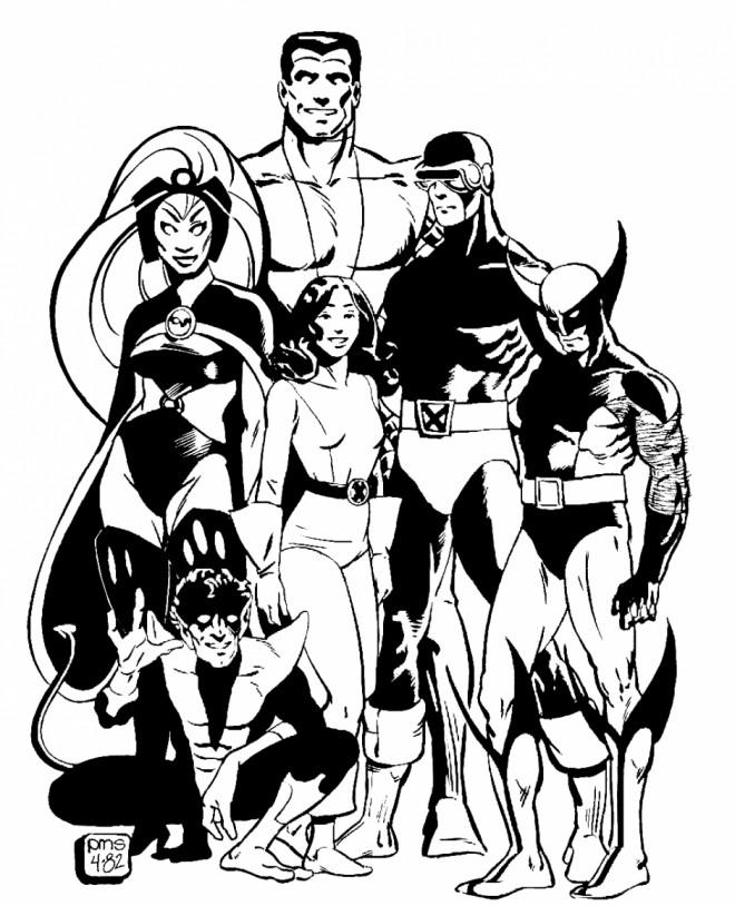 Coloriage et dessins gratuits X-Men Super Héros préférables à imprimer