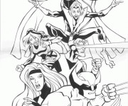 Coloriage X-Men Tornade