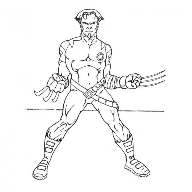Coloriage et dessins gratuits X-Men Wolverine à imprimer