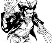 Coloriage X-Men Wolverine courageux