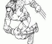 Coloriage et dessins gratuit X-Men Wolverine en Ligne à imprimer